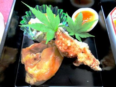 2017秋鮭竜田揚げ、鶏もも肉、柿3.JPG