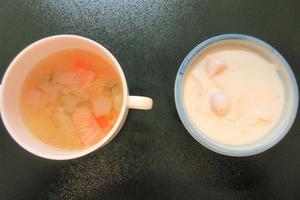 野菜スープとヨーグルト.JPG